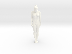 Female Dancer 001 scale in 1/18 in White Strong & Flexible Polished