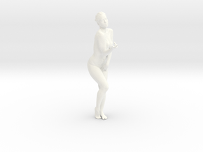 Female Dancer 004 scale in 1/18 in White Strong & Flexible Polished