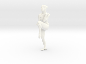 Female Dancer 006 scale in 1/18 in White Strong & Flexible Polished