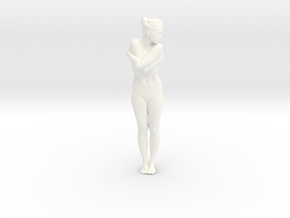 Female Dancer 005 scale in 1/18 in White Strong & Flexible Polished