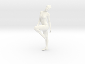 Female Dancer 009 scale in 1/18 in White Strong & Flexible Polished