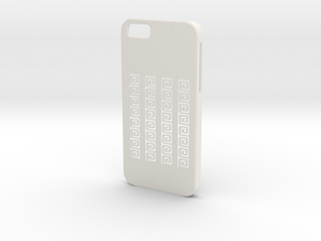 Iphone 6 Case.meandros in White Strong & Flexible