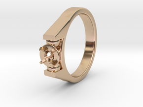 Ø20.57 Mm Diamond Ring Ø4.8 Mm Fit in 14k Rose Gold Plated