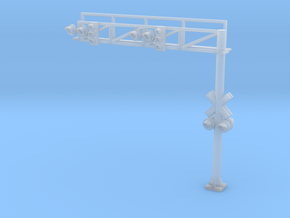 N RR crossing Gantry+traffic Lights in Frosted Ultra Detail