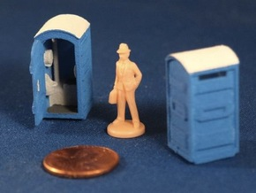 Port-a-Potty (x2) HO Scale in White Strong & Flexible