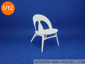 Erhard Rasmussen Shell Chair 1:12 scale in White Strong & Flexible Polished
