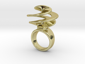 Twisted Ring 32 – Italian Size 32 in 18k Gold Plated