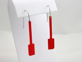Spatula Earrings in Red Strong & Flexible Polished