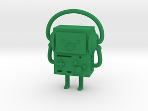 BMO with headphones in Green Strong & Flexible Polished