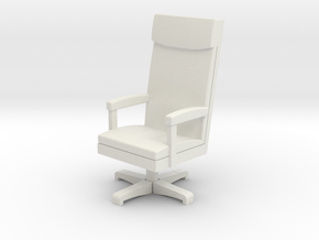 Miniature 1:48 LBJ Presidential Chair in White Strong & Flexible
