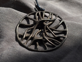 'Connect' Pendant in Polished Bronze Steel