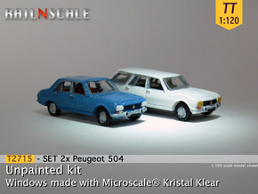 SET 2x Peugeot 504 (TT 1:120) in Frosted Ultra Detail
