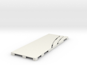 P-65stp-straight-lh-curve-inner-145r-75-pl-1a in White Strong & Flexible