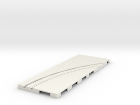P-65stp-straight-rh-curve-outer-145r-75-pl-1a in White Strong & Flexible
