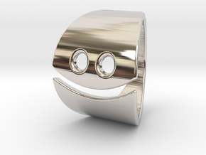 Smile in Rhodium Plated