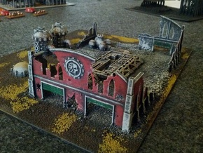 6mm Factory Ruins in White Strong & Flexible