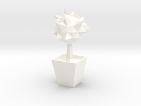 Lowpoly Tree in White Strong & Flexible Polished