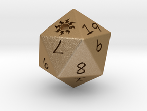 D20 Plains in Matte Gold Steel