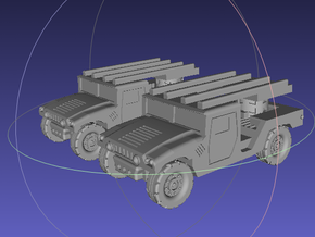 1/144 Humvee SL-AMRAAM moving position (Dual Pack) in White Strong & Flexible Polished
