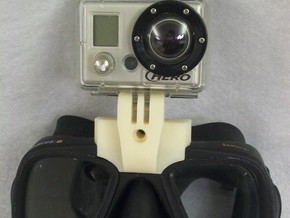 GoPro Goggle Mount- Back Piece in Black Acrylic
