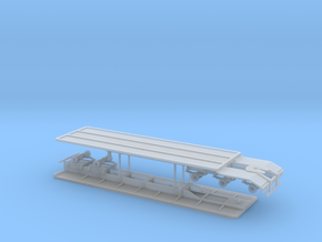 1/64th Set of Super B flatbed trailers in Frosted Ultra Detail