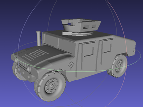 1/144 Humvee UAH (Single Pack) in White Strong & Flexible Polished