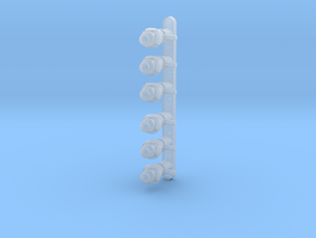 S scale Marker Lamps X 6 in Frosted Ultra Detail