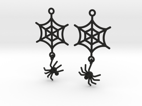 Spider Web with Spider Earrings in Black Strong & Flexible