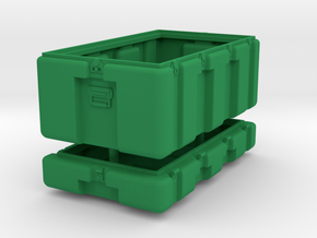 1/10.5 Military Storage Box in Green Strong & Flexible Polished