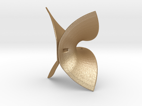 Enneper Surface in Matte Gold Steel