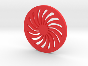 Spiral Coaster in Red Strong & Flexible Polished