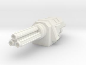 Rotary Autocannon in White Strong & Flexible