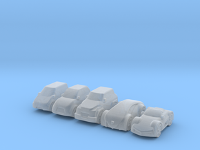 Miniature cars, 5 models (5pcs) in Frosted Ultra Detail