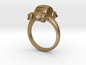 Ring VW Kodok in Polished Gold Steel