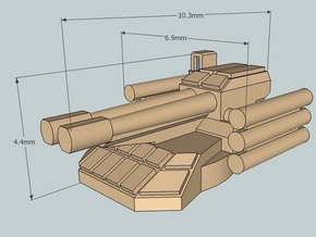 6mm Sci-Fi IFV Turret (BMPT-style) x12 in White Acrylic