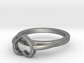 �22.10m- �0.870inch Heart Ring A in Raw Silver