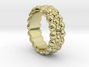 Chocolate Ring 14 - Italian Size 14 in 18k Gold Plated