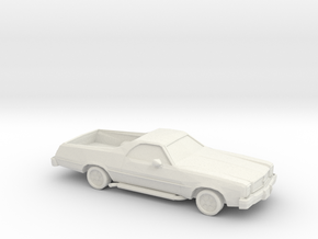 1/87 1976-77 Chevrolet El Camino in White Strong & Flexible