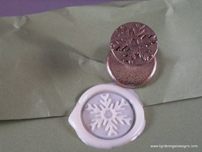 Snowflake Wax Seal in Stainless Steel