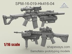 1/16 SPM-16-019-Hk416-04 HK 416 m320 Variant IV in Frosted Extreme Detail