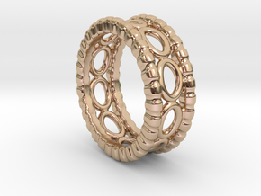Ring Ring 19 - Italian Size 19 in 14k Rose Gold Plated