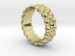 Chocolat Ring 33 - Italian Size 33 in 18k Gold Plated