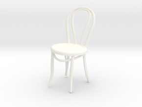 Miniature 1:18-ThonetChair (Not Full Size) in White Strong & Flexible Polished