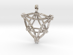 LIGHT OF THE WORLD in Rhodium Plated