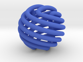 Figure-8 knot sphere in Blue Strong & Flexible Polished
