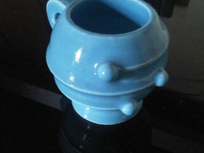 Neptune Ideas Espresso Cup in Gloss Blue Porcelain