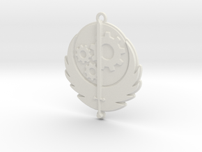 Brotherhood of Steel pendant in White Strong & Flexible