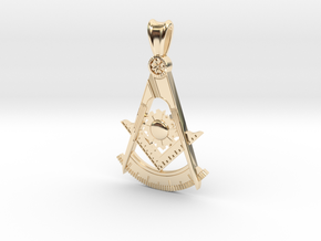 (Large) Past Master Pendant  in 14K Gold
