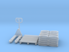 Pallet jack 01.HO Scale (1:87) in Frosted Ultra Detail