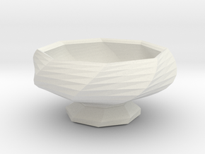 Sake Cup 01 in White Strong & Flexible
